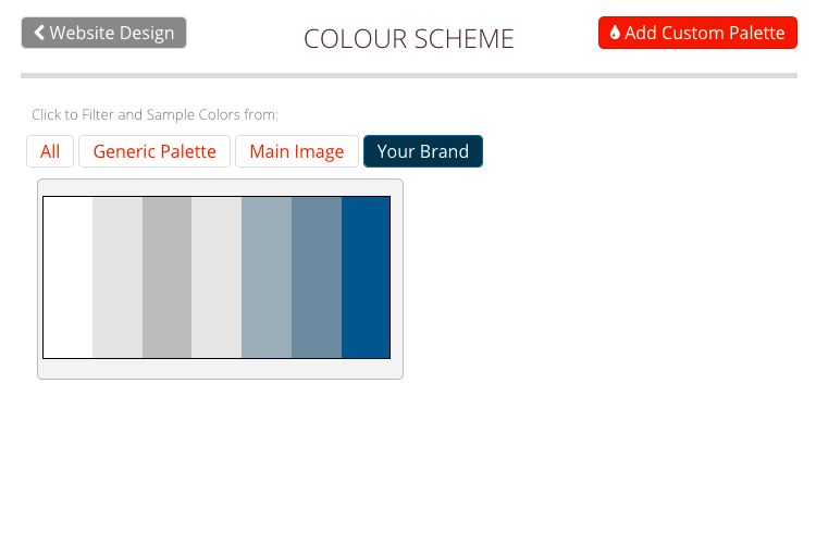 Colour Selection Filter by Brand