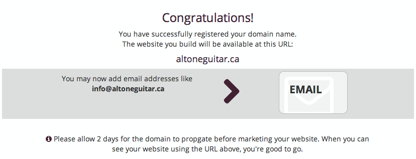 Domain Confirmation