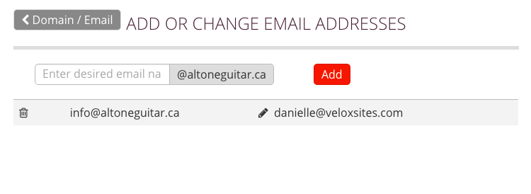 Forward Email Settings
