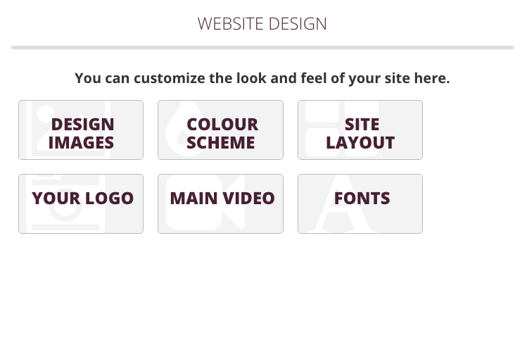 Website Design Submenu