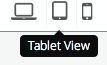 Tablet Preview Button